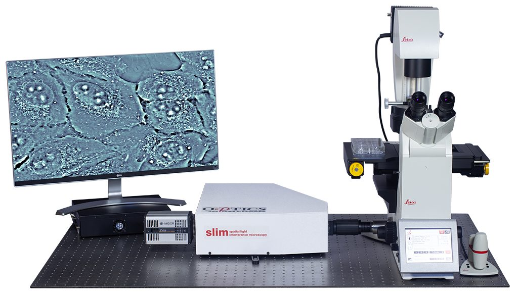SLIM with Andor Zyla 5.5 camera on Leica microscope